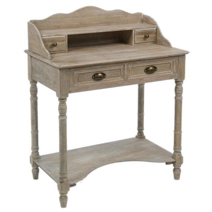 Bureau en bois valerie achat vente bureau bureau en for Achat meuble bureau