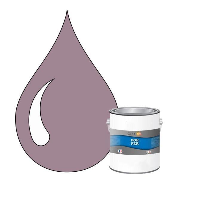 Peinture Antirouille spéciale FER - DECO FER Glycero - Violet pastel - RAL 4009 - 1L + Brosse
