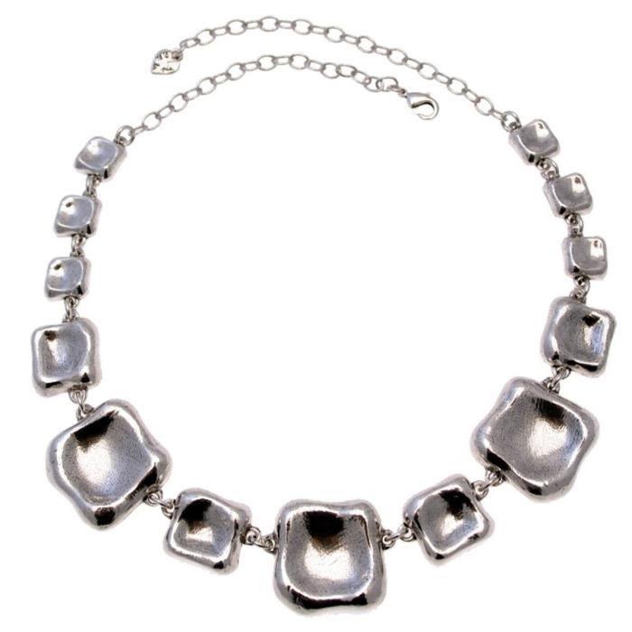 Collier en métal argenté collection COUSSIN - Couleur Marketing : Gris - Composition : Métal