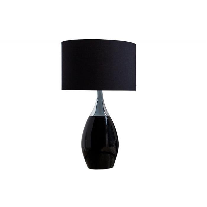 Lin Avec Cm Et Moderne En Lampe Noir Poser À Abat Jour Coloris 60 mw8nN0