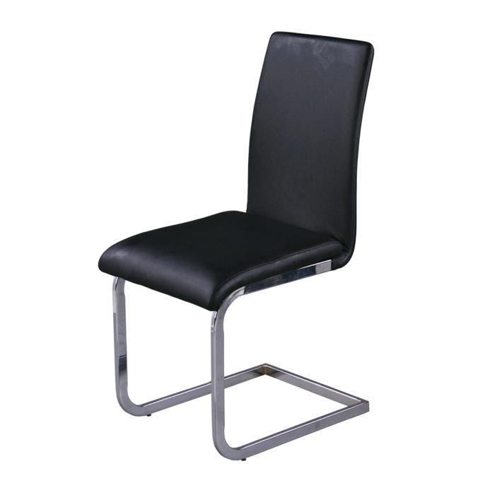 chaise noir pieds en m tal chrom avec garnitur achat. Black Bedroom Furniture Sets. Home Design Ideas
