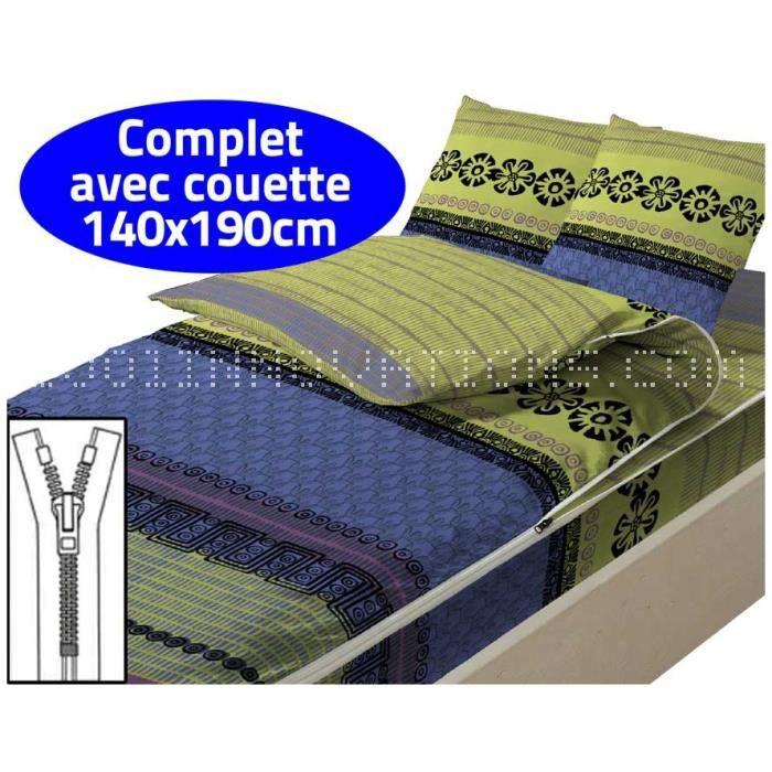 caradou couchage avec couette 2 personnes elvira achat vente housse de couette cdiscount. Black Bedroom Furniture Sets. Home Design Ideas