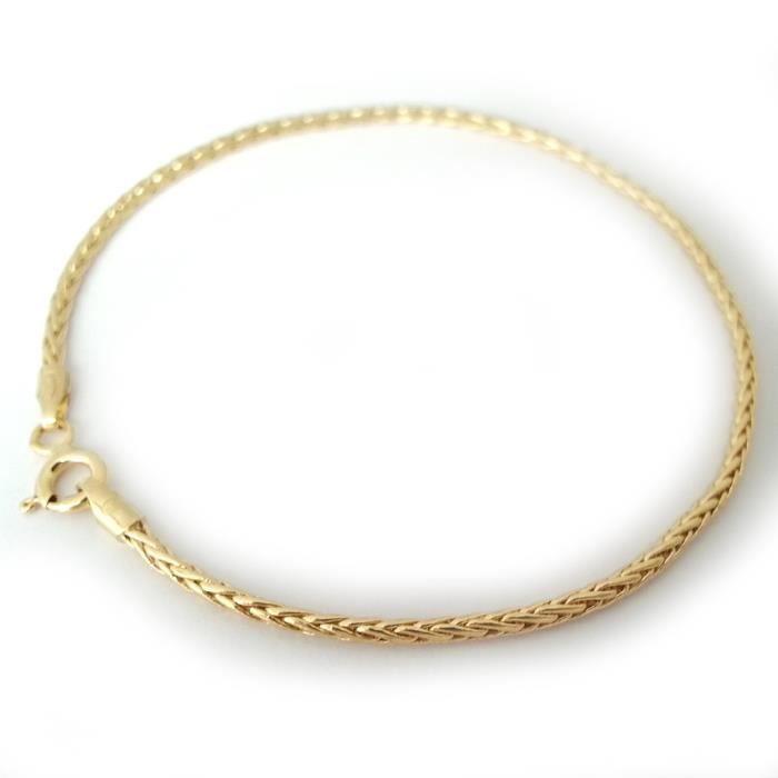 Diamantly Bracelet Palmier or 18 carats 18 cm