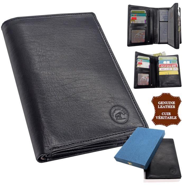 super populaire ef2e2 41018 Portefeuille cuir de vachette véritable haut de gamme format carte grise
