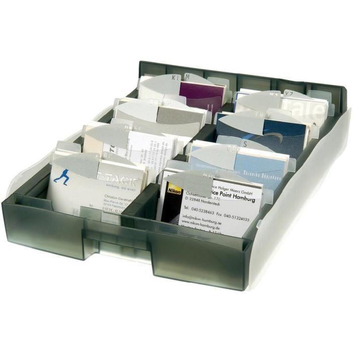 Box De Rangement Pour Carte Visite Gris HAN A8