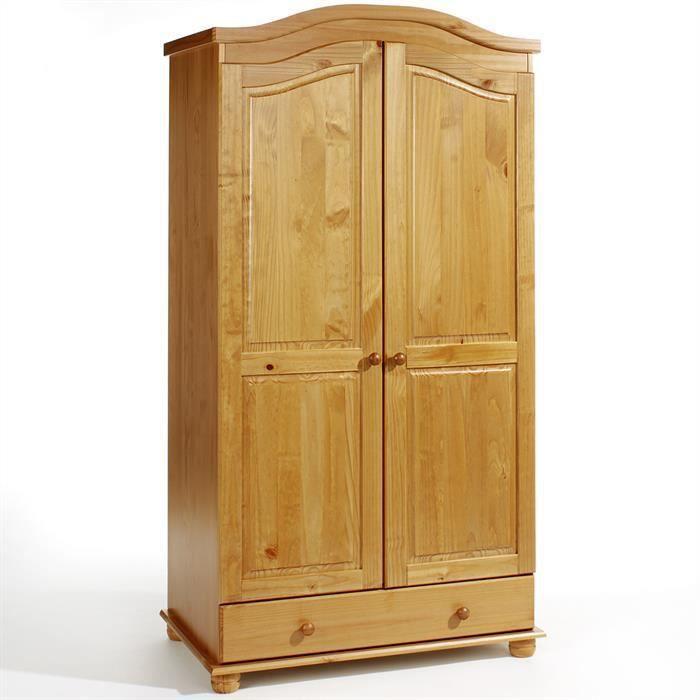 armoire en pin bergen lasur couleur miel achat vente. Black Bedroom Furniture Sets. Home Design Ideas
