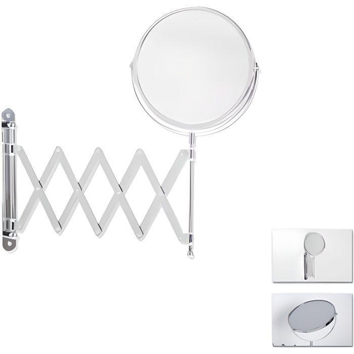 Miroir salle de bain mural grossissant achat vente miroir salle de bain mural grossissant for Long miroir mural pas cher