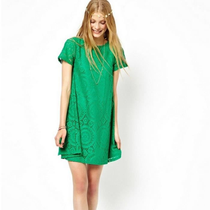 Robe femmes en vrac Mini-jupe Vert