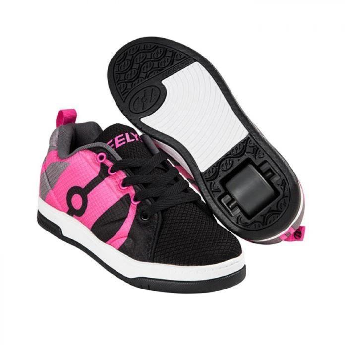 Heelys chaussure à roulette repel 100048 noir rose