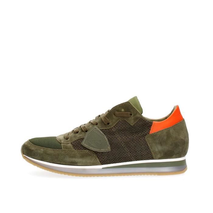 PHILIPPE MODEL PARIS SNEAKERS Homme GREEN, 43