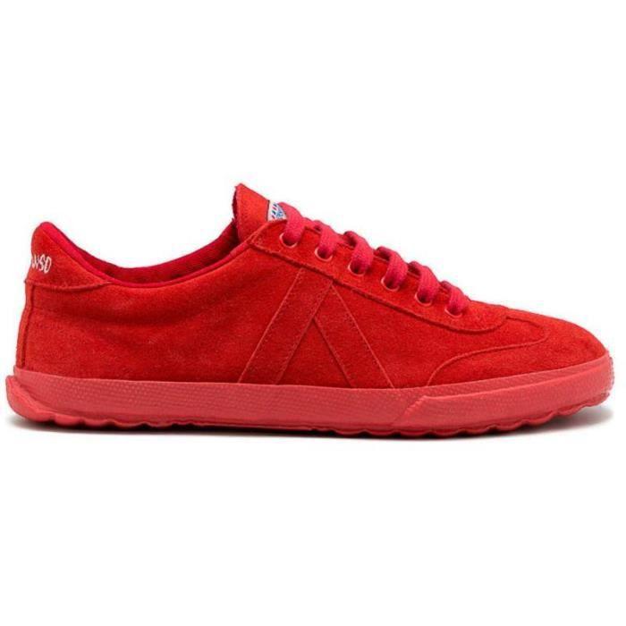 Baskets - El Ganso en daim rouge monochrome - Couleur - Rouge, Taille - 40