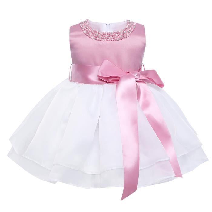 621c48179fe8e Robe Princesse Nouveau Né Bébé Enfant Fille Robe de soirée ceremonie ...