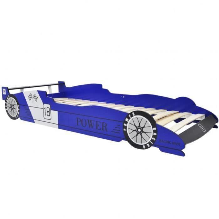 Lit enfant voiture bleu achat vente lit enfant voiture bleu pas cher cd - Lit pour enfant voiture ...