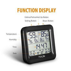 Thermometre digital interieur achat vente thermometre digital interieur pas cher cdiscount - Thermometre interieur precis ...