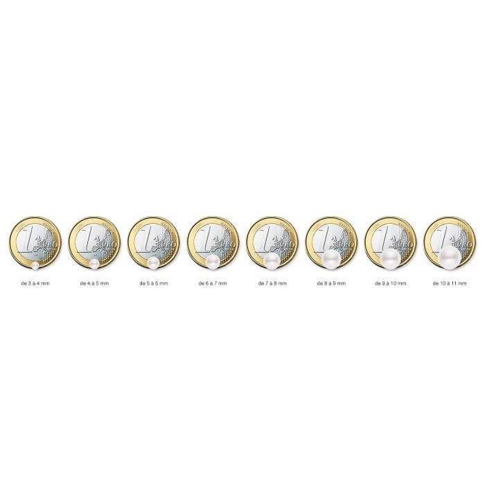 Collier Avec Pendentif - Or Jaune 9 Cts - Perle Deau Douce - 42 Cm - Am-9cc 116 R9j-pk Z8P0R