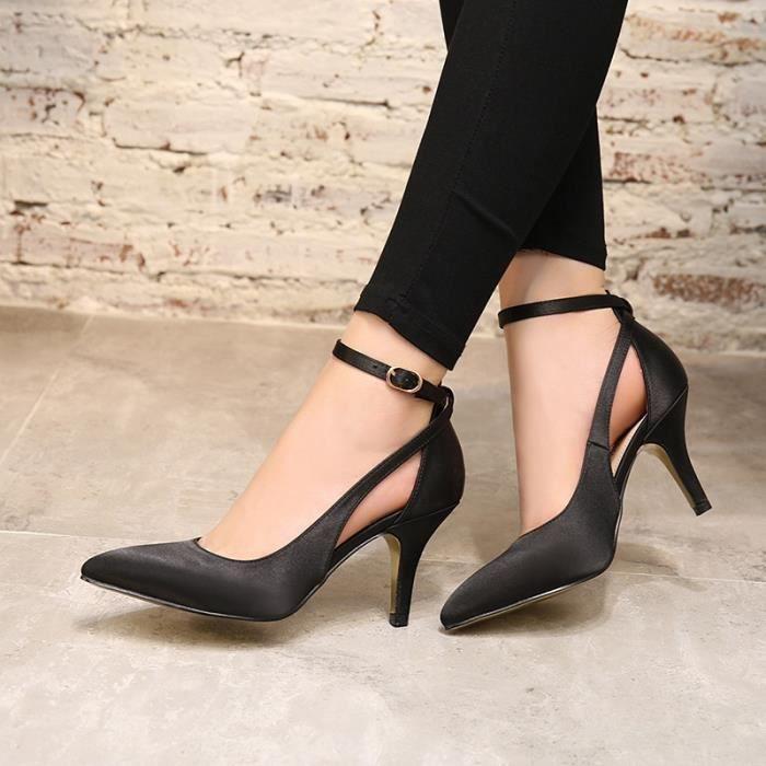 Femmes & # 39; Gladiateur Sandales Summer Style Mode spartiates creux Talon haut Chaussures Femme Ladies pompes Casual,rouge,37