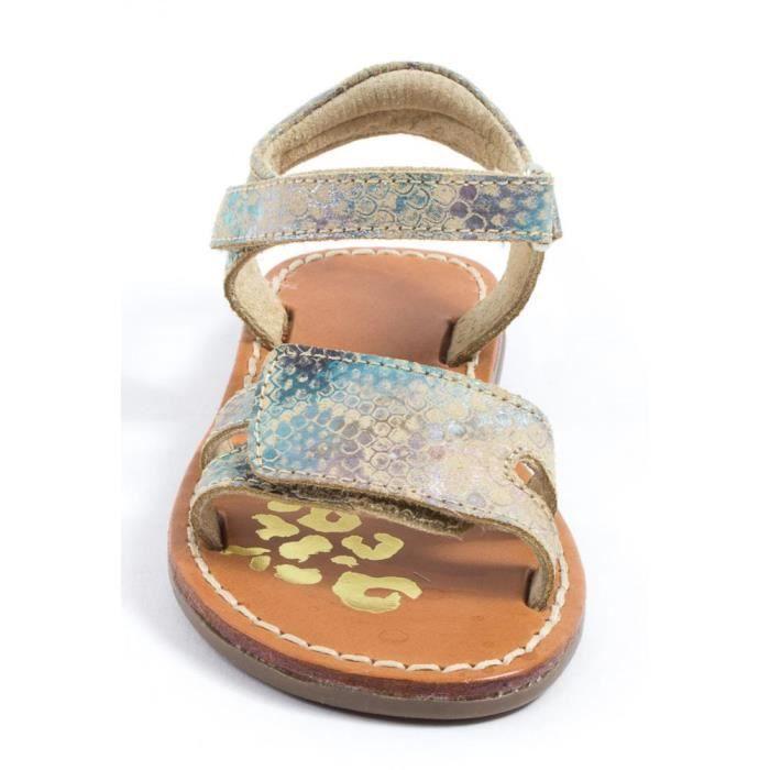 nu et piedsFille TTY Sandales multicolore P6qwYYx