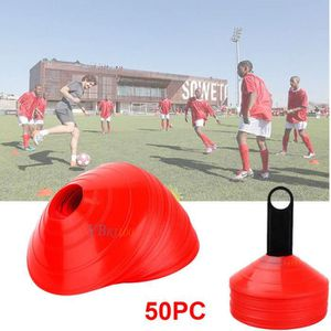 BALISAGE - CONE - PLOT 50pcs Rouge Marquage Football Cône Vitesse Sport S