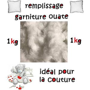 OUATE Rembourrage blanc, ouate, coussin, garniture etc