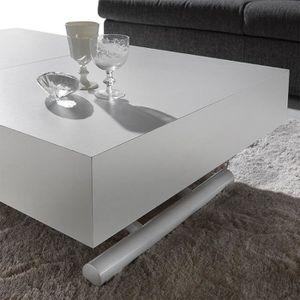 TABLE BASSE Table basse relevable couleur wengé ALFONSO  Optio