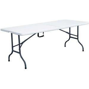 Table de réception jardin camping pliante 244cm Blanc ...