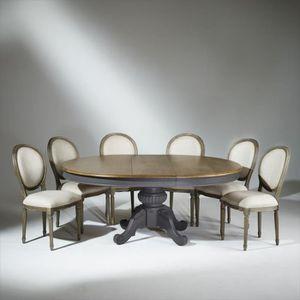 TABLE À MANGER SEULE Table extensible 8 à 10 couverts, patine anthracit