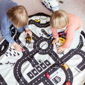 TAPIS DE JEU Tapis pour enfant, pour jouer aux voitures et rang