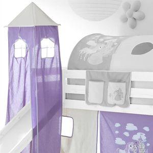 Tente de lit mezzanine achat vente tente de lit mezzanine pas cher blac - Tente pour lit sureleve ...
