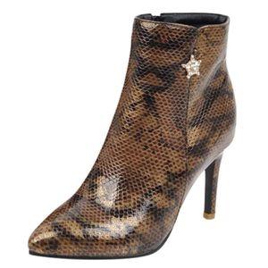SANDALE - NU-PIEDS Femmes talon haut à glissière latérale sexy serpen