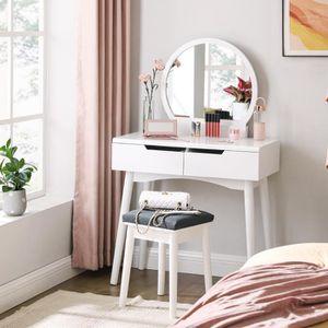 COIFFEUSE SONGMICS Coiffeuse Moderne L 80 x H 128 cm Miroir