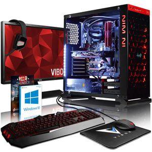 UNITÉ CENTRALE + ÉCRAN VIBOX Armageddon GM550-110 PC Gamer Ordinateur ave