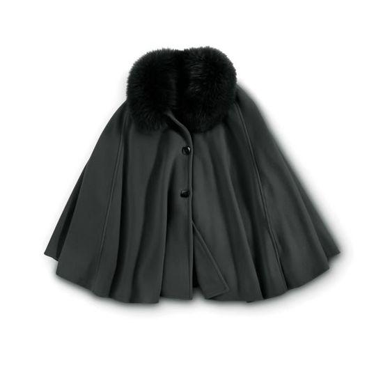 Fourrure Manches Saoye Chale Mode Épaisseur 3 Warm Hiver Vêtements 4 Unicolore Femme Synthétique Châle Elégante Fashion En Poncho Automne Cape Confortables 92IEDWH