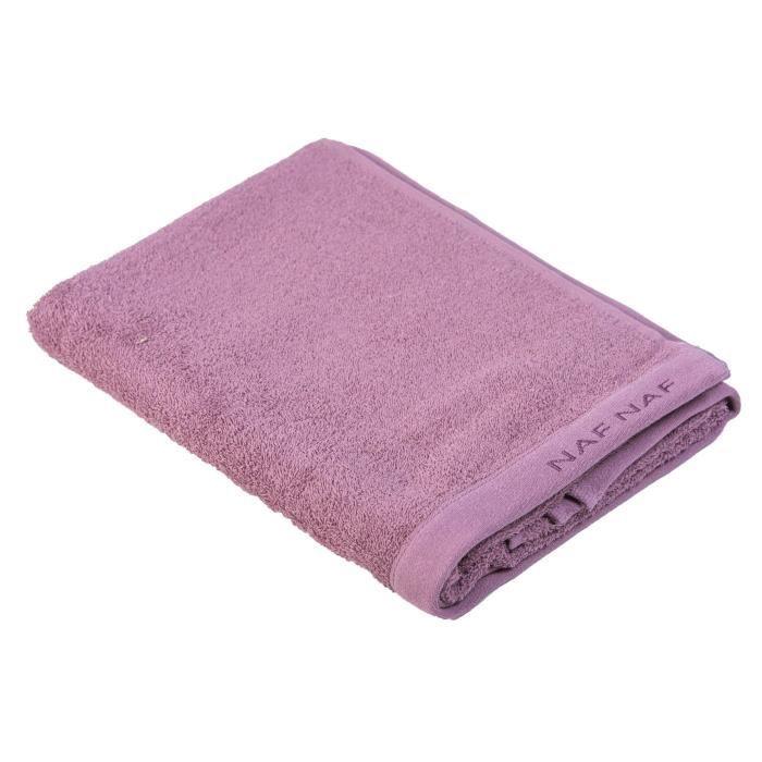 NAF NAF Drap de bain 100% coton Casual - 70x140 cm - Violet mauve