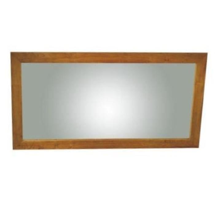 Miroir en teck rectangulaire l90 - Achat / Vente miroir salle de ...