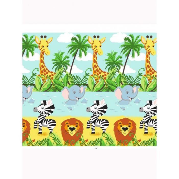 Jungle Tastique Double Rideaux 66 X 72 Achat Vente Rideau