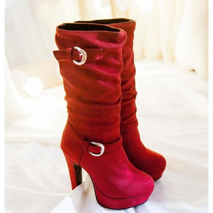 sexy couleur pure semelle paisse chaussure de m... OnDrGJaO3o