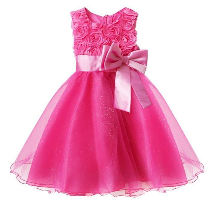 ca37d62ee031f Enfants Bébé Filles Robe de Soirée Princesse Robe de Baptême Cérémonie  Mariage Jupe ...