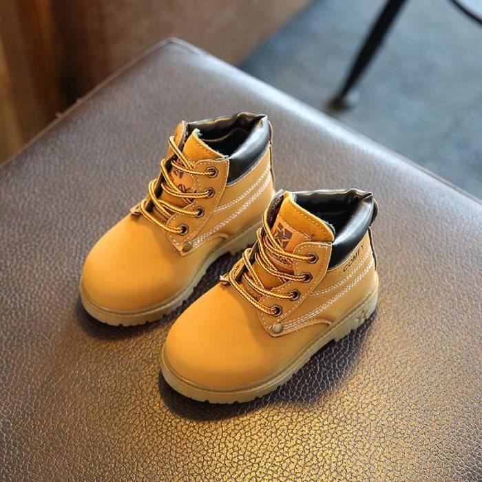 Bottes Bébé Fille & Garçon Chaussures Montants antidérapante Jaune