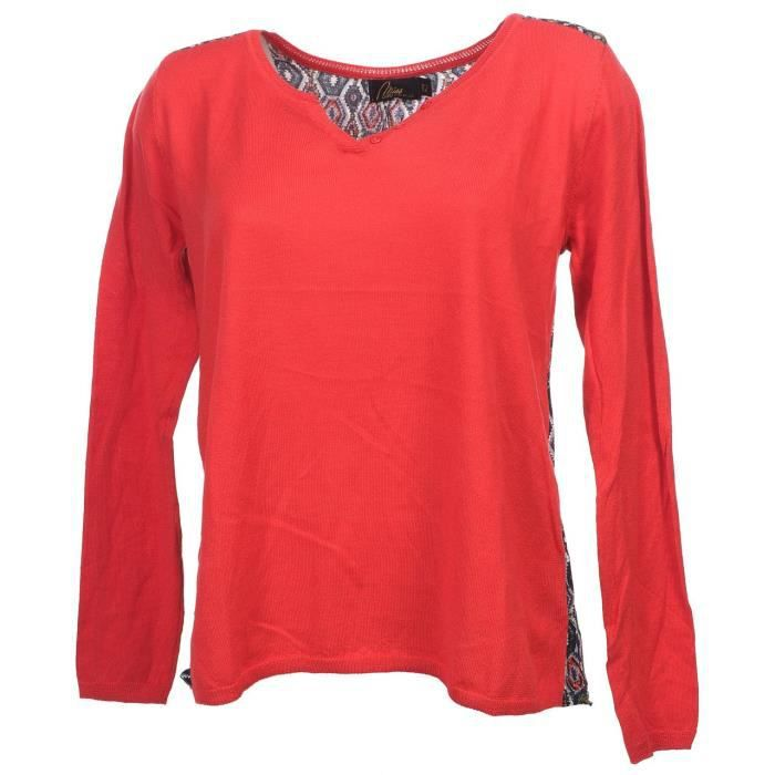 Pull fin Lumial rouge pull fin f - Culture sud Rouge Rouge - Achat ... 852c39ca4ba8
