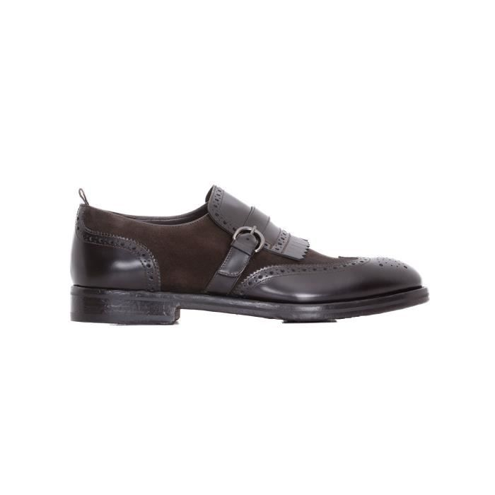 ROSSI HOMME 6466M MARRON CUIR CHAUSSURES À BOUCLES JfcJiBQYSy
