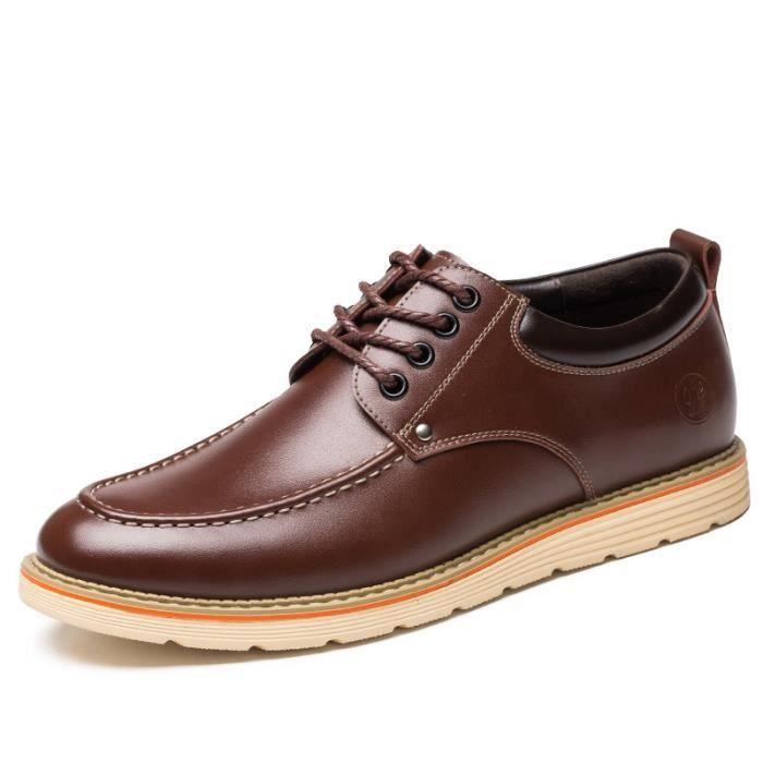5e2c2bada106 Chaussure Homme Cuir Automne et Hiver Classique Chaussures de ville  BLKG-XZ191