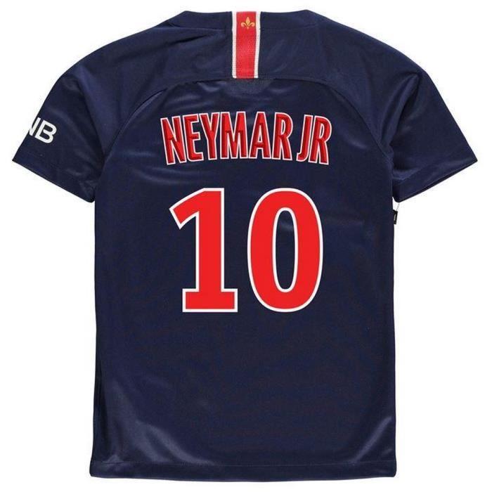 Nouveau Maillot Enfant PSG Paris Saint-Germain Domicile Flocage Officiel  Neymar Numéro 10 Saison 2018-2019 4997b6d3acd