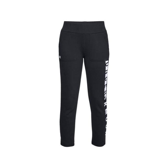 Pantalon de Jogging Under Armour Rival toison Noir pour Femme ... ab6e48a8bba
