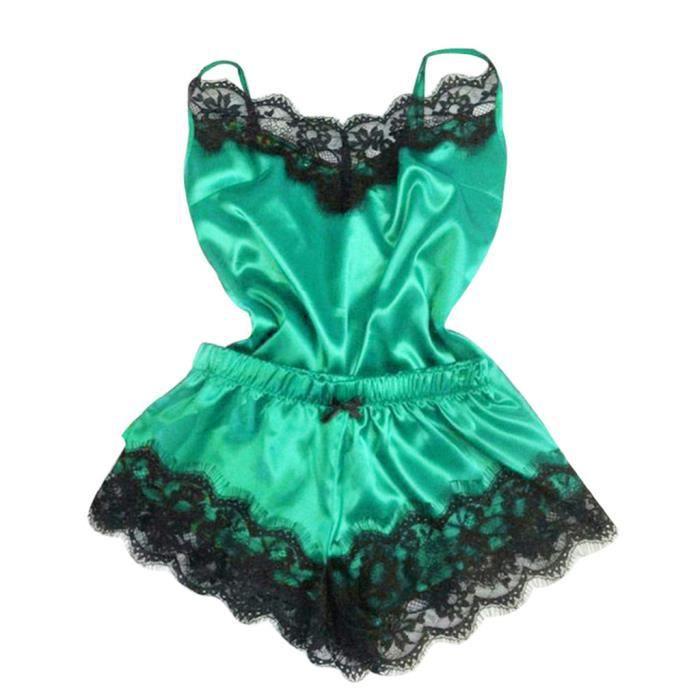 De rr2824 Nuit Set vêtements Femmes Lingerie Sous 2pc Pyjamas Babydoll Chemise S7IP6WUwq