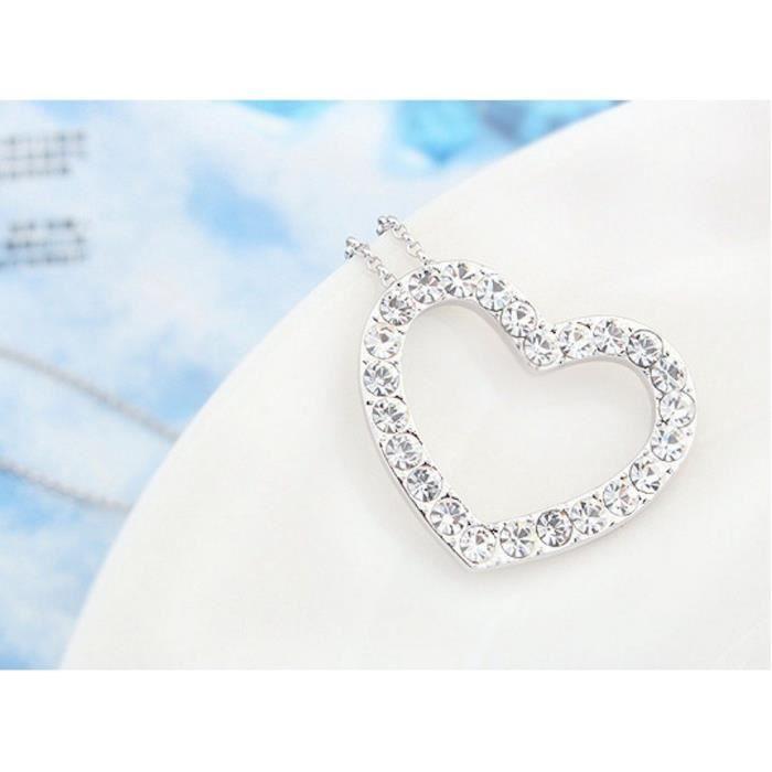 Les cristaux Swarovski femmes Coeur de diamant - amour - valentine collier pendentif. Mode Wear Daily - partie S0H9N
