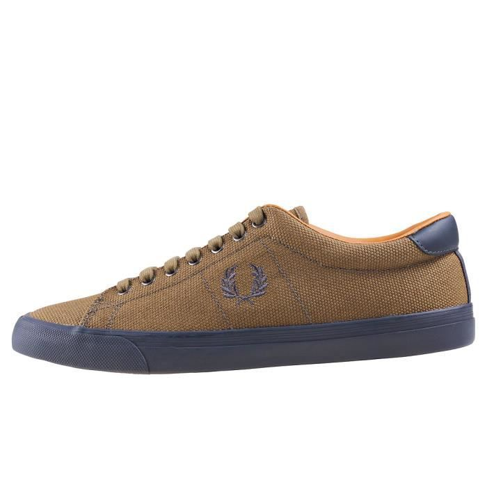 Fred Perry Underspin Heavy Waxed Hommes Baskets olive - 8 UK SfR8I6