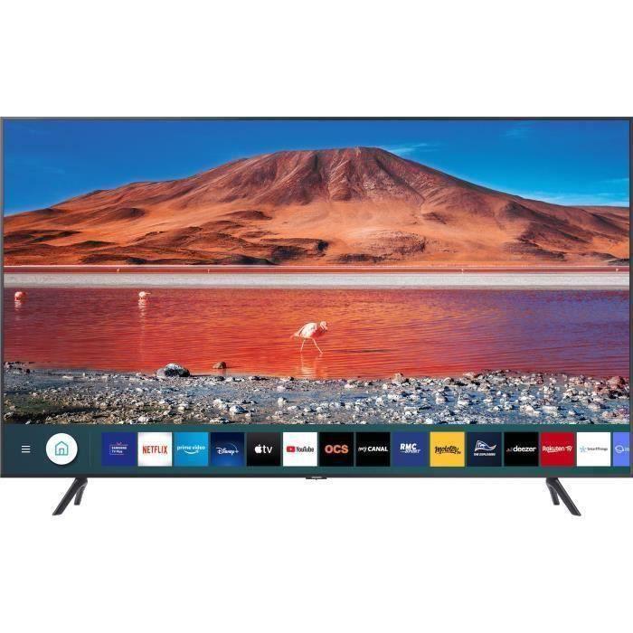 """Plus de détails Samsung UE50TU7072U - TV LED UHD 4K 50"""" (125cm) - HDR10+ - Smart TV - 2XHDMI - 1XUSB - Classe é"""