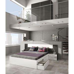 tête de lit gris - achat / vente tête de lit gris pas cher - cdiscount