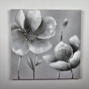 TABLEAU - TOILE Tableau déco Fleurs  129 -  Toile peinte à la main