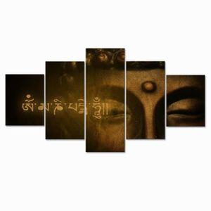 TABLEAU - TOILE Sans cadre 5 Pièces Zen Bouddha HD Imprime Toile P